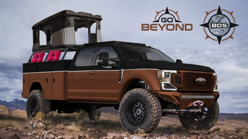 Check out the Ford Super Duty lineup rolling into SEMA 2019