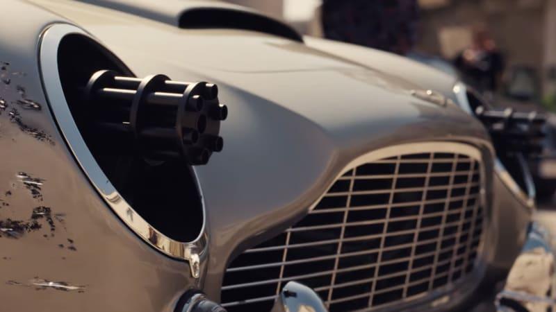 Bond does a machine-gunning Aston Martin donut in first 'No Time to Die' trailer
