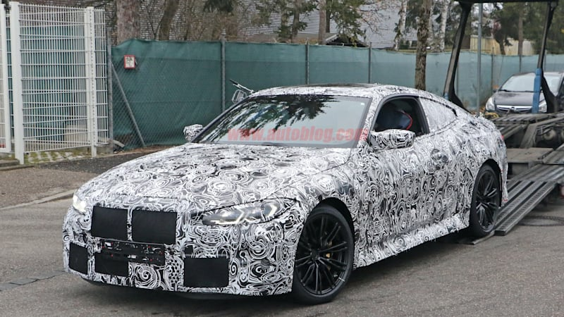 2021 bmw m4 coupe spied for the first time hiding its big