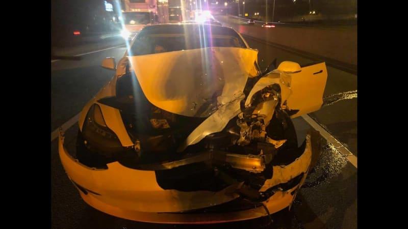 Tesla Model 3 slams into police cruiser while on Autopilot