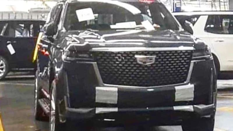 Leaked photos show 2021 Cadillac Escalade with huge new ...