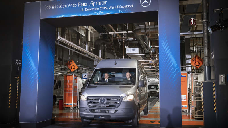 Mercedes-Benz eSprinter production has officially begun