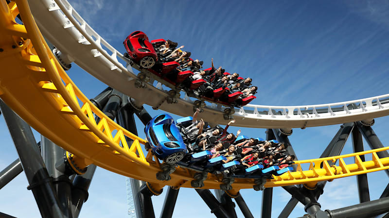 Six Flags' West Coast Customs roller coaster is open