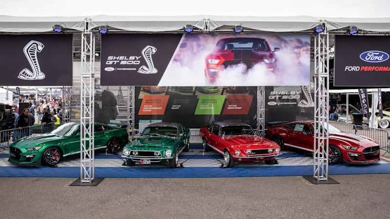 Historic Little Red and Green Hornet Mustangs are together for the first time ever