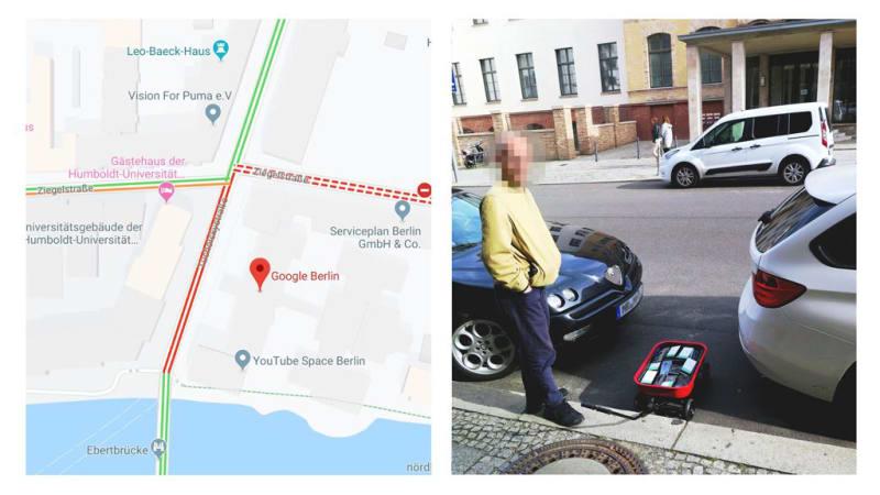 Performance artist creates virtual traffic jams with 99 smartphones