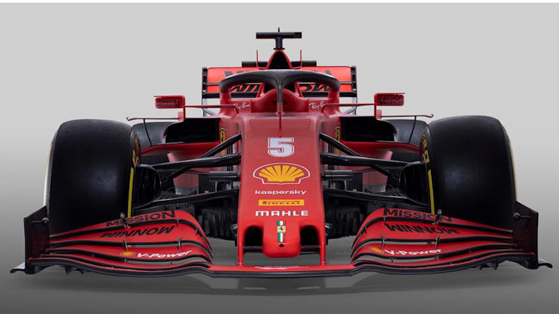 Ferrari F1 team shows off its new SF1000 car with a touch of theater