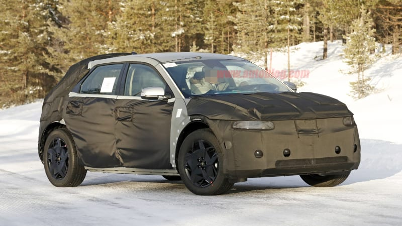Hyundai 45 EV production car spied for the first time