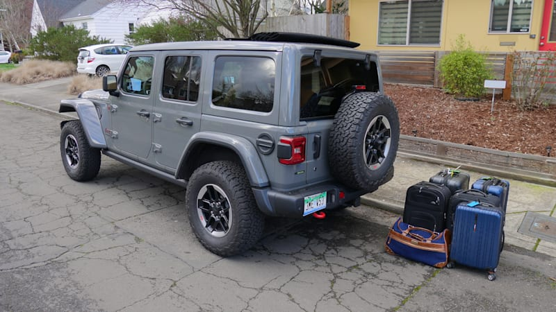 2020 Jeep Wrangler Unlimited Jl How Much Fits In The Trunk Autoblog