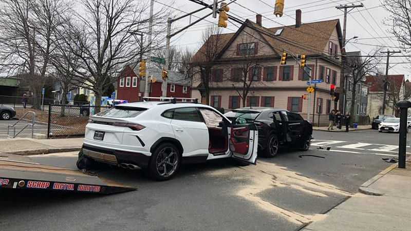 Teens steal two Lamborghini Urus SUVs, crash caught on video
