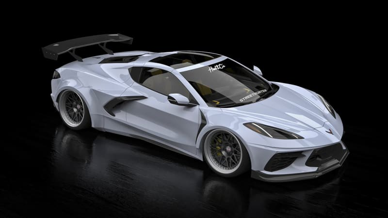 2020 Corvette C8 lowered widebody kit is in the works