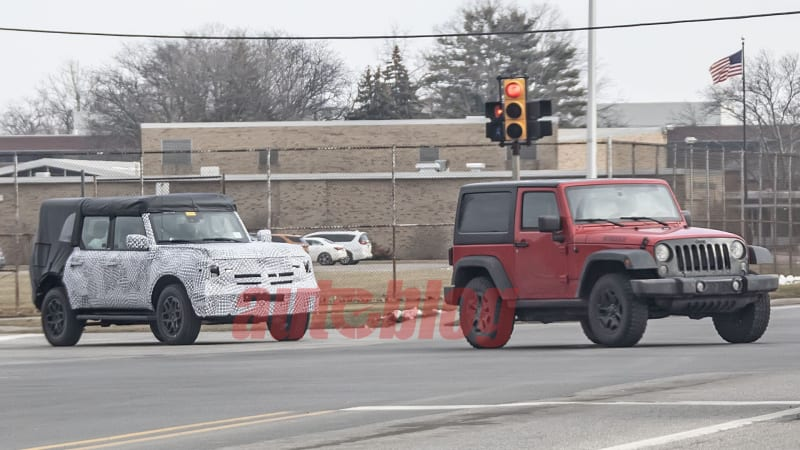 Photos: Ford Bronco prototype spotted cruising with a 2 ...