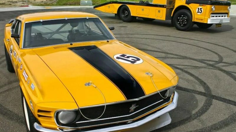 1970 Boss 302 Mustang And Transport Truck For Sale On Ebay Autoblog
