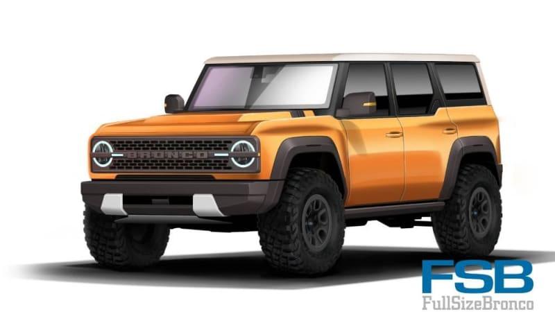 Possible 2021 Ford Bronco Exterior Paint Palette Leaks Autoblog