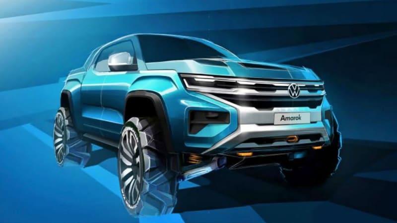 Volkswagen previews next-generation Amarok pickup truck