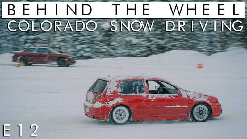 Driving in the snow in the mountains of Colorado | Behind the Wheel S02 // E12