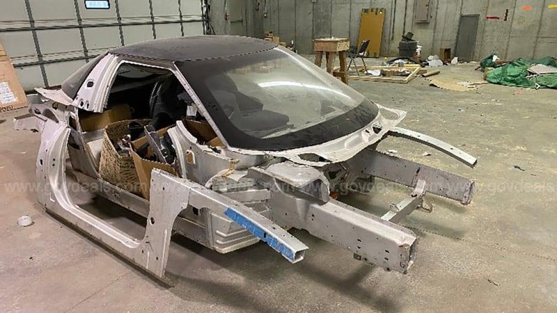 A decrepit chopped-up General Motors EV1 shell sold for $23,662