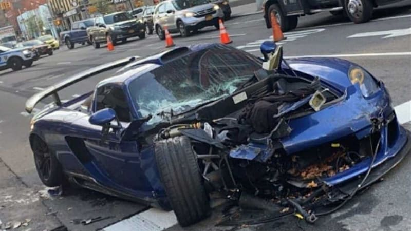 Supercar driver totals Gemballa Mirage GT in massive NYC wreck