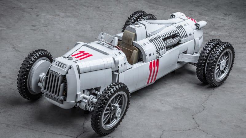 Auto-Union Type C 1/8-scale Lego replica is surprisingly detailed