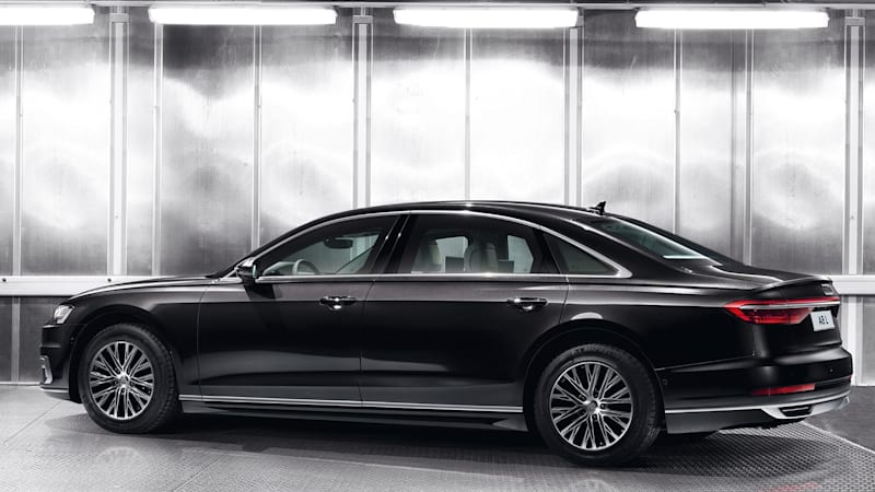 Audi A8 L Security is not afraid of speeding bullets or hand grenades