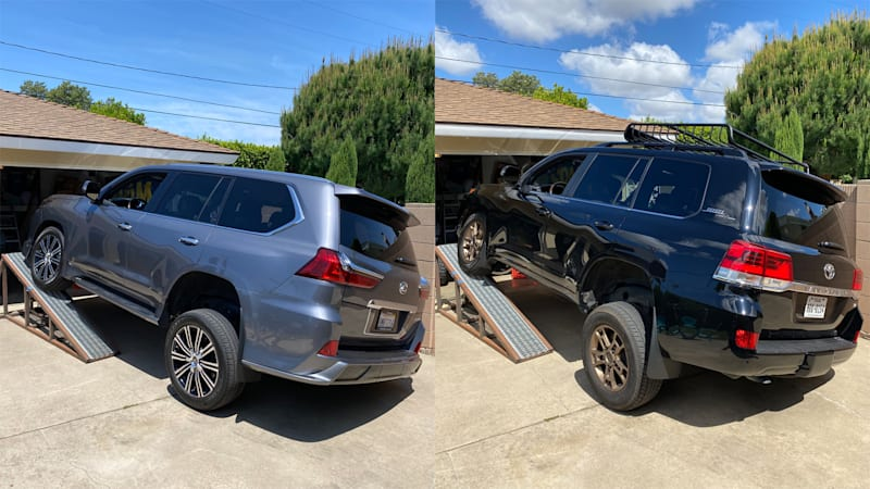 Toyota Land Cruiser vs Lexus LX 570 Suspension Flex Test