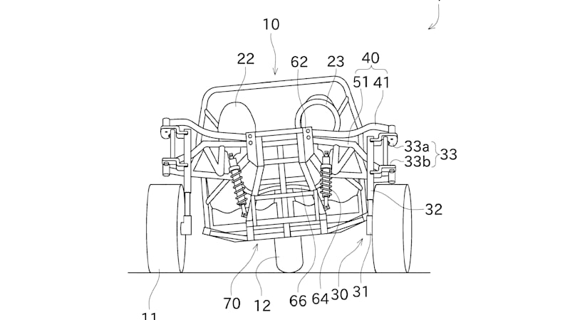 Kawasaki patent application describes a three-wheel vehicle that leans