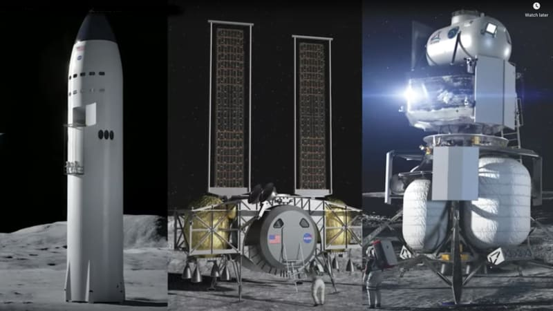 SpaceX wins $2.9 billion NASA contract for moon lander, with 2024 goal