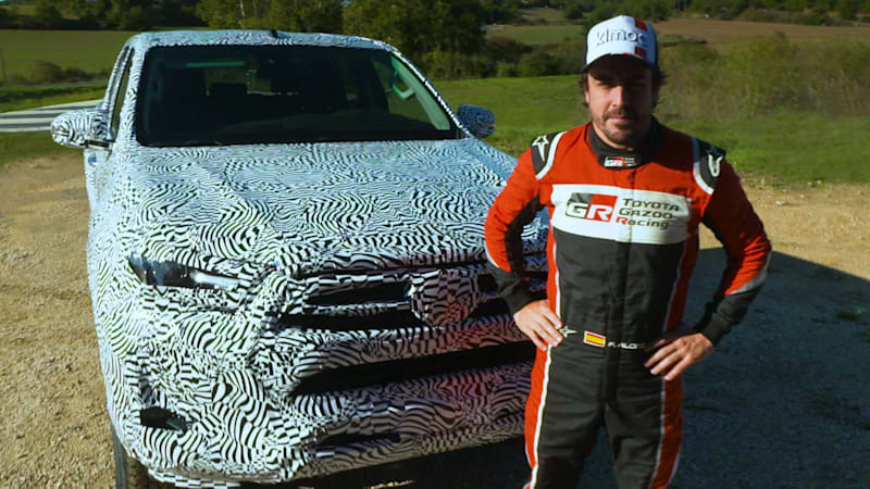 Fernando Alonso tests the updated Toyota Hilux's performance credentials