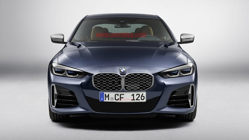 2021 BMW 4 Series With a Smaller Grille, North American license plates
