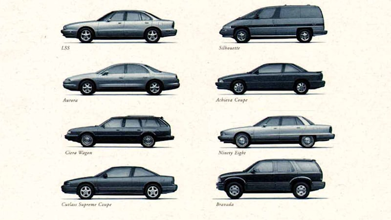Oldsmobile sure was a hodge-podge brand
