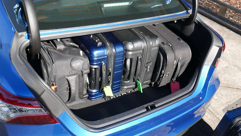 2020 Toyota Camry Luggage Test four wide
