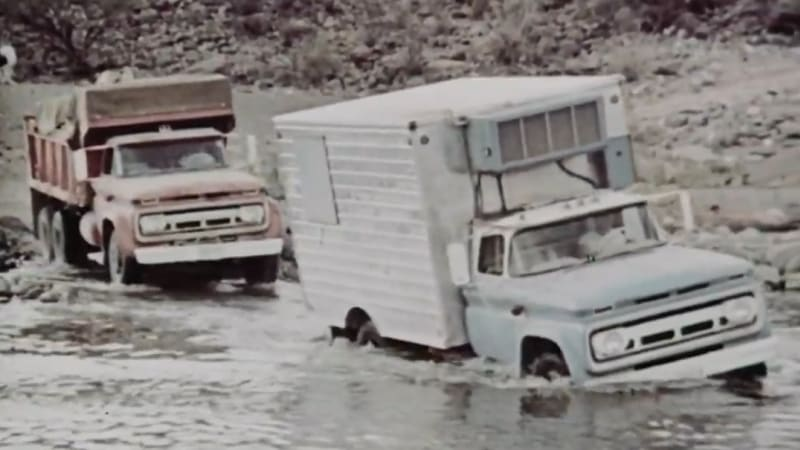 Chevy tackles Baja with its '63 pickups, a box truck, and a dump truck