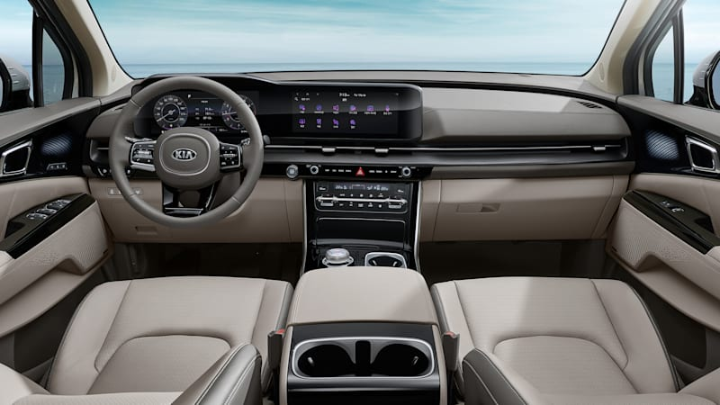 Kia shows new Sedona minivan's interior