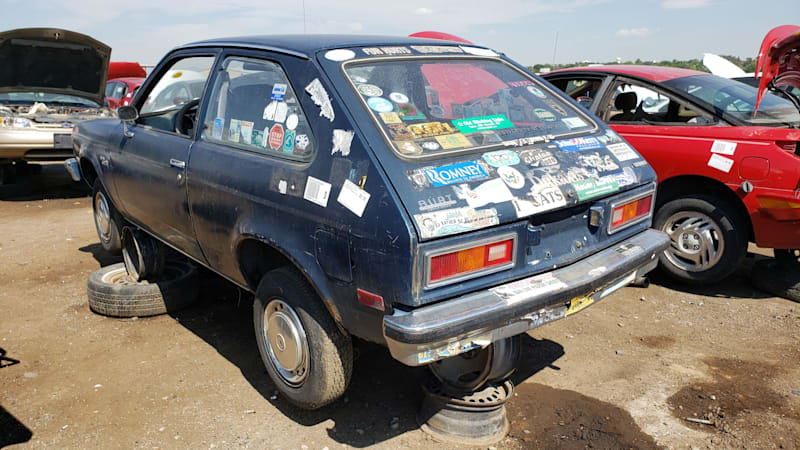 junkyard gem 1979 chevrolet chevette animal rights edition autoblog junkyard gem 1979 chevrolet chevette