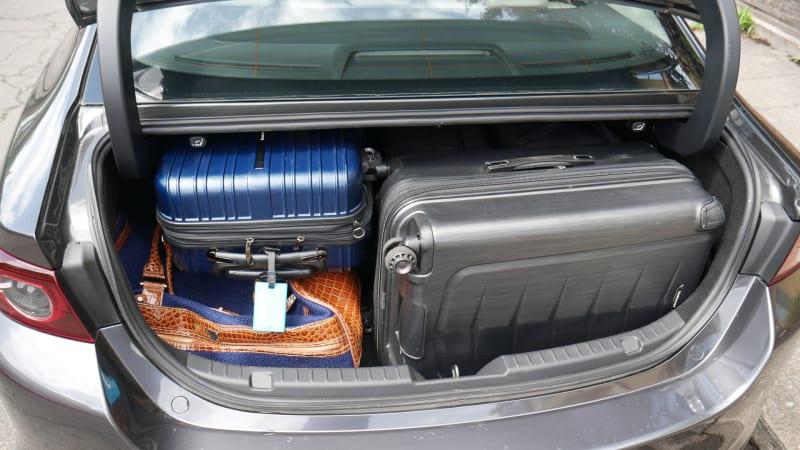 Mazda 3 Sedan Luggage Test all the bags1