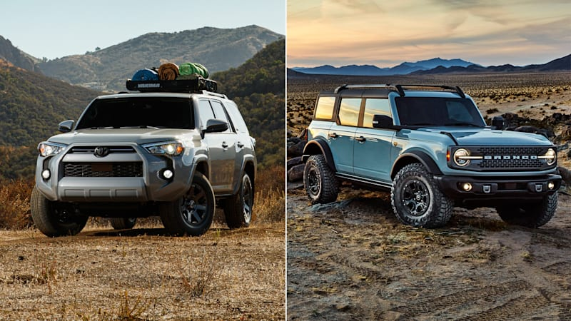 2021 Ford Bronco vs 2021 Toyota 4Runner | How their specs compare