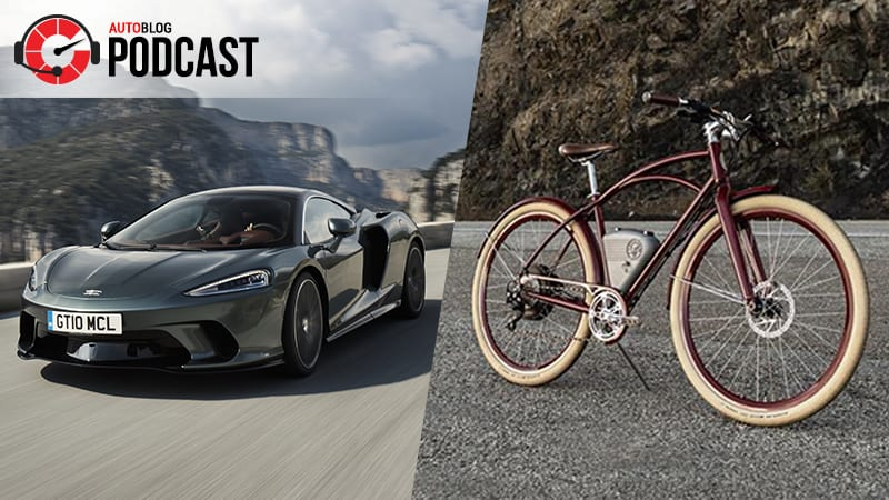 Driving the McLaren GT, Audi S7 and Vintage Electric Cafe bicycle | Autoblog Podcast #639