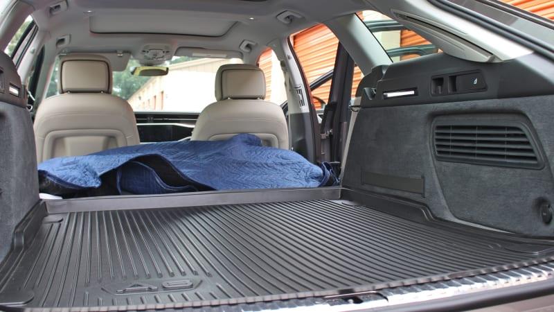 2020 Audi A6 Allroad Cargo Area Driveway Test   A wagon full of wheels