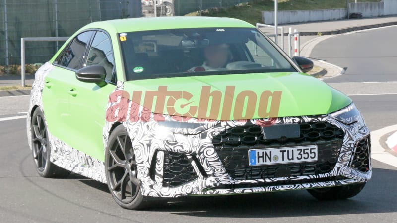 Next-gen Audi RS 3 sedan drops camo in new spy photos