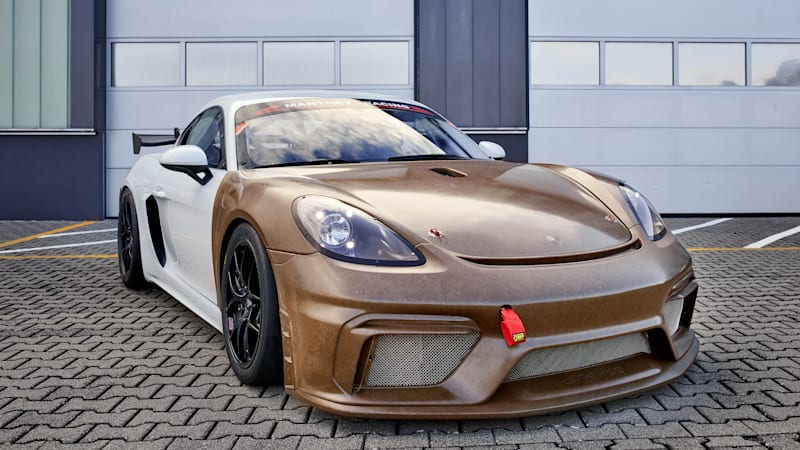 This Porsche body kit is made from natural, plant-based fibers