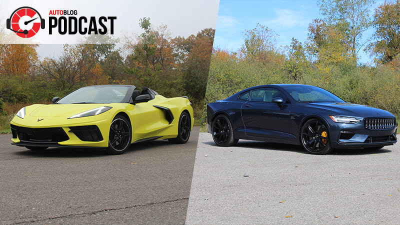 photo of Driving the Chevy C8 Corvette Convertible, Polestar 1 and Porsche 718 Cayman T | Autoblog Podcast #649 image