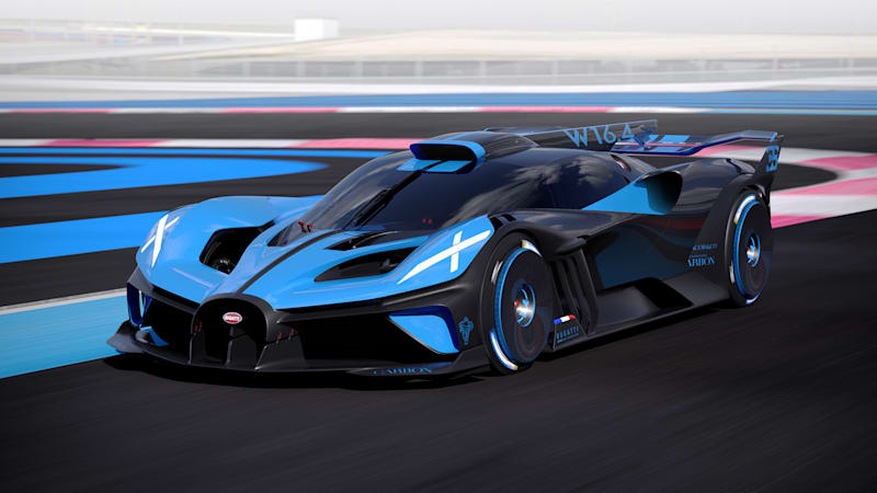 Bugatti introduces Bolide race car with 1,824 horsepower