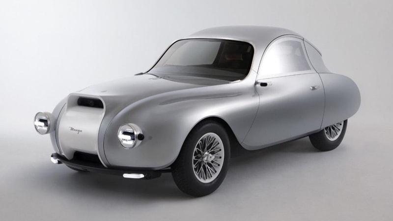 Retro-style autonomous coupe has 'see-through' dashboard