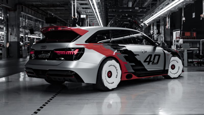 Audi RS 6 GTO concept paints its wagon in an homage to 90 Quattro IMSA GTO racer
