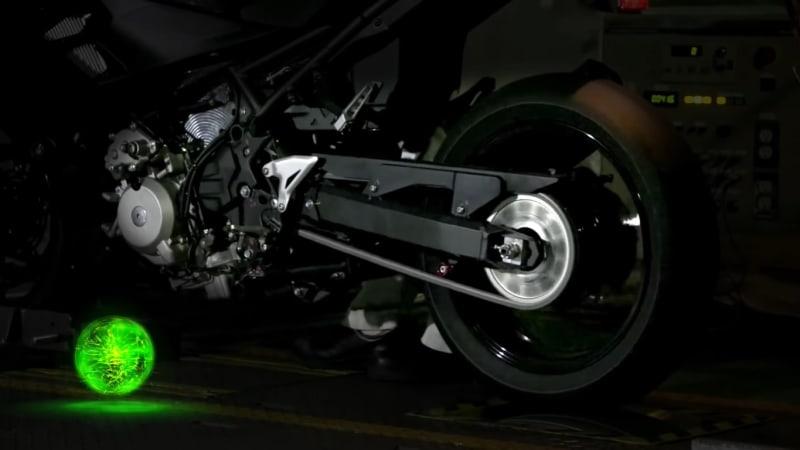 Kawasaki announces gasoline-electric hybrid motorcycle