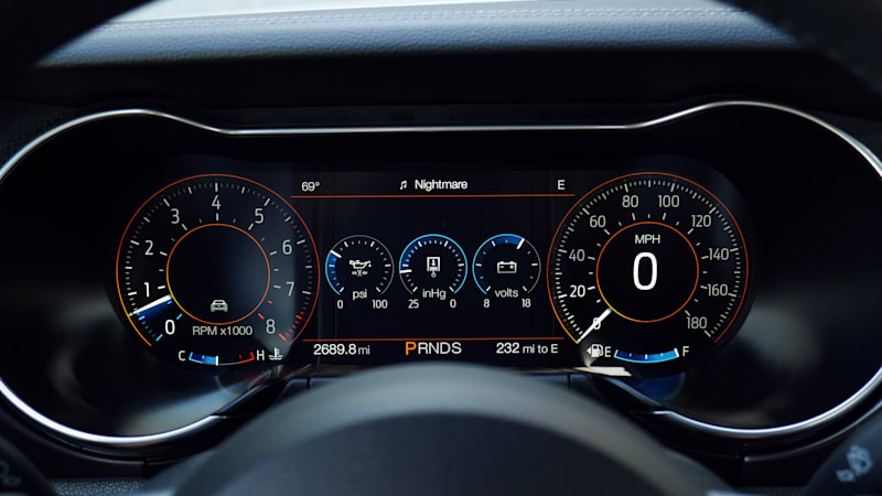 2021 Ford Mustang Mach 1 gauges