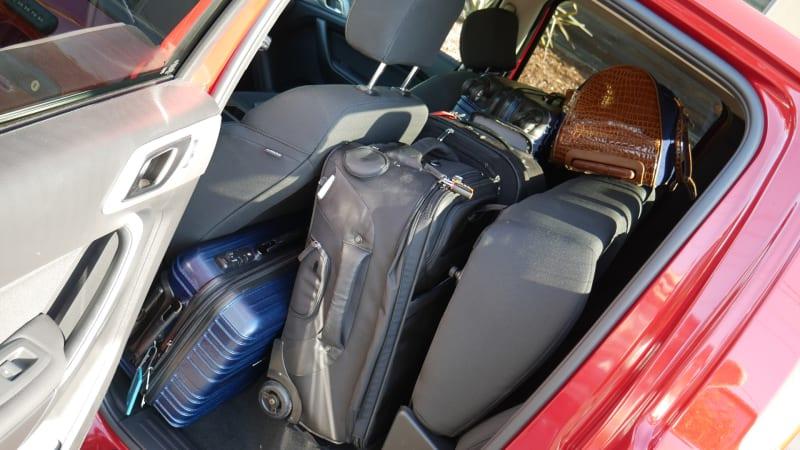 Ford Ranger Luggage Test back seat full left