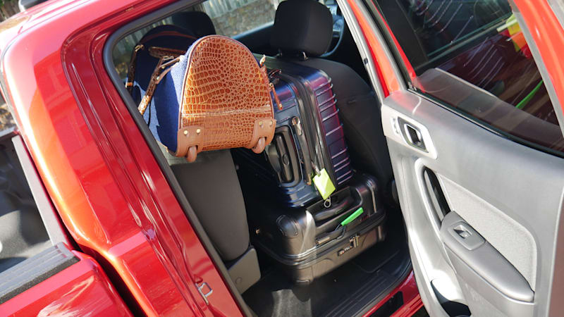 Ford Ranger Luggage Test back seat full right
