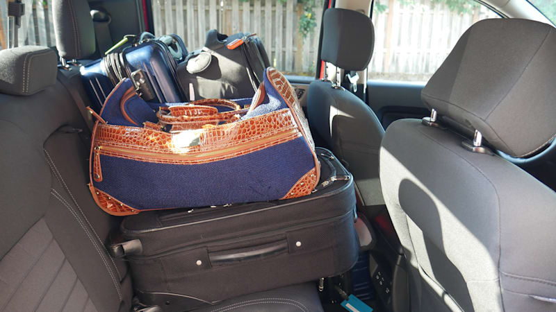 Ford Ranger Luggage Test back seat full with person