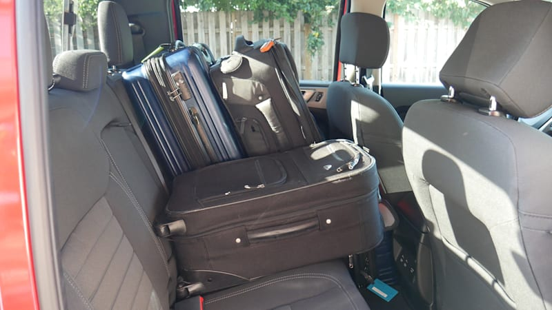 Ford Ranger Luggage Test back seat with person
