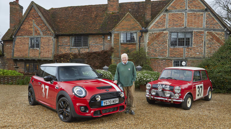 Mini delivers Paddy Hopkirk Edition car to the rally legend himself